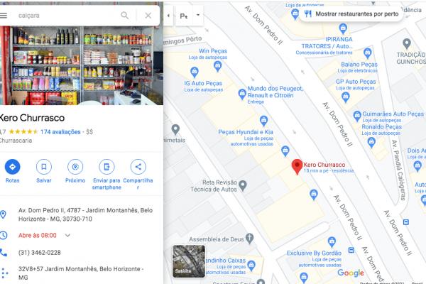 exemplo de google meu negócio